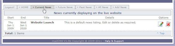 news listing